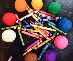 Give Old Crayons New Life as Play Dough