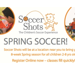 Spring Soccer With Soccer Shots!  8 Week Session For 2-8 Year Olds!