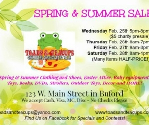 Toads & Teacups Children's Spring Consignment Sale