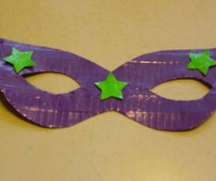 Duct Tape Mardi Gras Mask