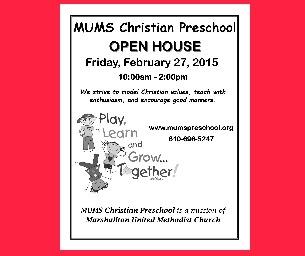 Open House at MUMS Christian Preschool