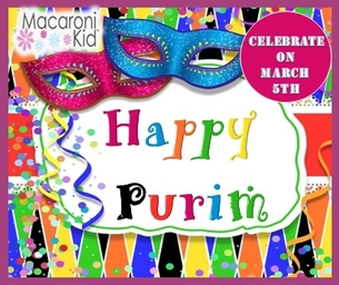 CELEBRATE PURIM THIS WEEK WITH LOCAL FAMILY EVENTS