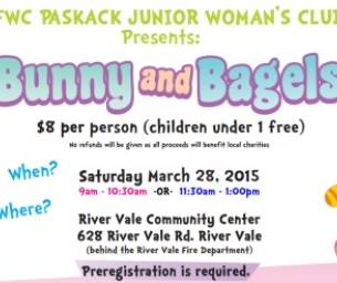 GFWC Paskack Junior Woman's Club presents Bunny and Bagels March 28