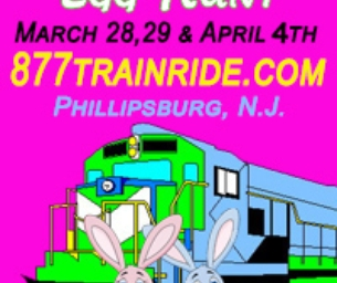 TICKET GIVEAWAY! Easter Bunny Train Ride & Egg Hunt in Phillipsburg