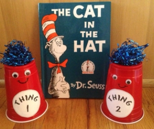 Dr Seuss' Thing 1 and Thing 2 Craft