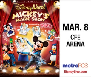 Ticket Giveaway: Disney Live! Mickey's Magic Show at CFE Arena March 8