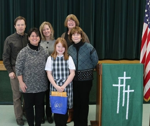 Holy Cross School Fifth Grader Claire Thornton