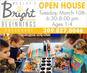 Save the Date: Wesley's Bright Beginnings Preschool Open House Mar. 10