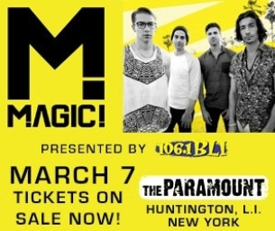 Giveaway!  Win 2 Tickets to See Magic! March, 7 at The Paramount!