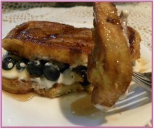 Blueberry and Yogurt Stuffed French Toast