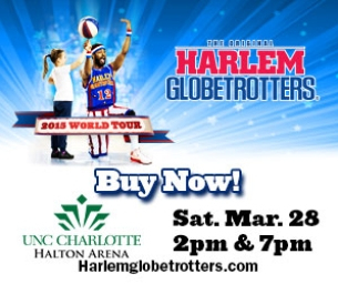 WIN 4 Tickets to see the Harlem Globetrotters!