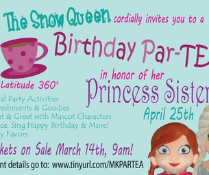 A Royal Birthday Par-Tea For The Snow Queen's Sister (2 Sessions)