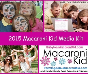 Sponsor Farmingdale Macaroni Kid's Free Event Newsletter & Craft Table