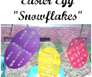 """Macaroni Celebrates: Easter Egg """"Snowflakes"""""""