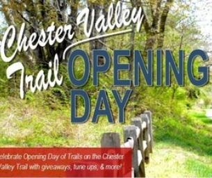 Opening Day Along the Chester Valley Trail