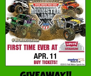 GIVEAWAY: Monster Jam at Levi's Stadium