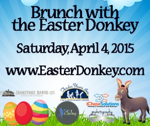 Families Welcome to Enjoy Brunch & Egg Hunt with Easter Donkey