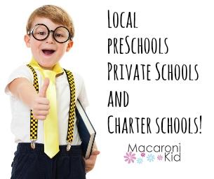 Local Preschools, Private Schools and Charter Schools