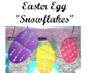 "Macaroni Craft ~ Easter Egg ""Snowflakes"""