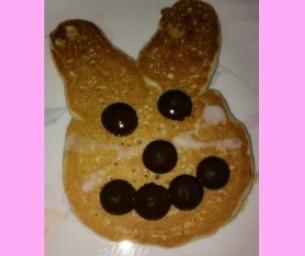 Macaroni Menus: Easter Bunny Pancakes