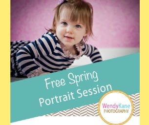 GIVEAWAY!!! Win a 1 Hour Outdoor Spring Photo Session with Wendy Kane