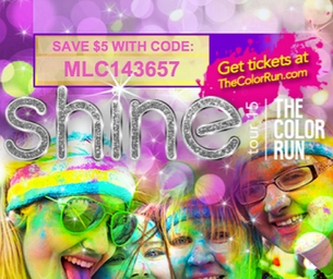 The Color Run is Back!  Check Out Shine Tour 2015