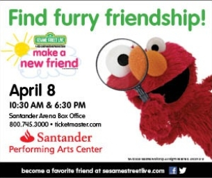 Sesame Street Live is Coming to the Santander Performing Arts Center