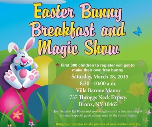 Easter Bunny Breakfast and Magic Show