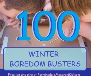 100 *Winter* Boredom Busters for Inside and Out