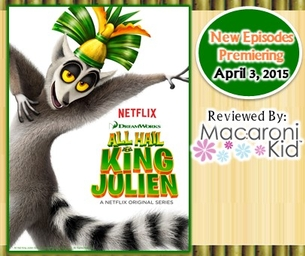 """""""ALL HAIL KING JULIEN"""" NEW EPISODES AVAILABLE APRIL 3"""