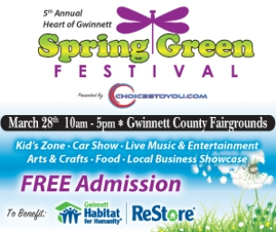 THIS SAT! Spring Green Festival at The Gwinnett County Fairgrounds