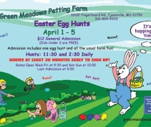 Win Tickets To A Green Meadows Petting Farm's Annual Easter Egg Hunt