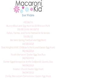 East Wichita Easter Events 2015