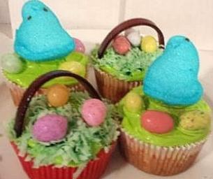 Sweet Spring Eats: Easter Basket & Bird Nest Cupcakes