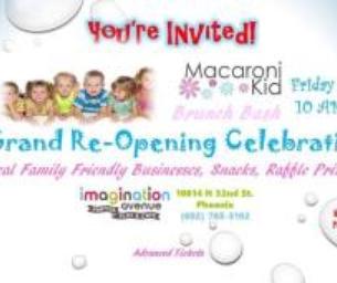 Macaroni Kid Brunch Celebration at Imagination Avenue!