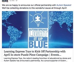 Learning Express Kicks Off Autism Speaks Partnership