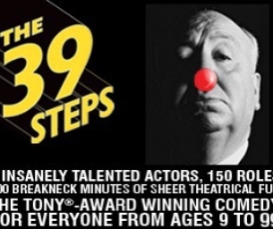 The 39 Steps, now playing at Union Square Theatre