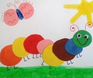 Welcome Spring! Simple Caterpillar Craft