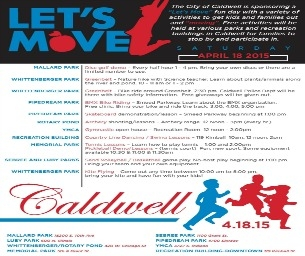 """Caldwell's """"Let's Move"""" Fun Day!"""