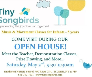 Grand Opening!  Tiny Songbirds-  Music and Movement Classes