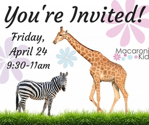 Macaroni Mommy & Me African Safari Playdate: Friday, April 24