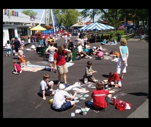 Event: 2015 Art In The Park Sidewalk Chalk Art Competition