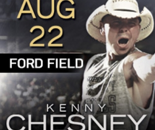 Kenny Chesney returns to Ford Field this August!
