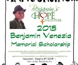 Graduating Seniors: Benjamin Venezia Memorial Scholarship