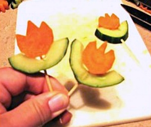 Snack Time - Healthy Flower Power!