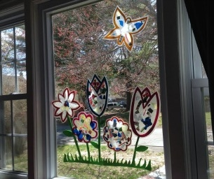 Simple Mosaic Sun Catchers