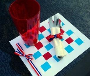 Celebrate Memorial Day! Patriotic Picnic Placemats