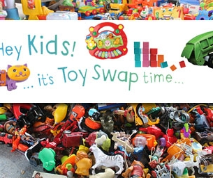 Toy Swap at Recology CleanScapes Store in Gilman Village