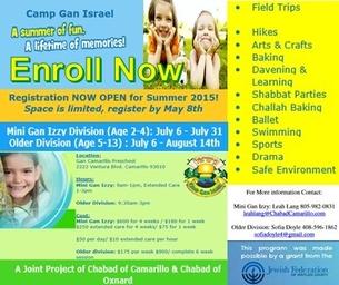 CAMP GAN ISRAEL SUMMER CAMP FOR KIDS AGE 2-13