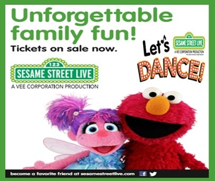 """GET YOUR TICKETS FOR SESAME STREET LIVE """"LET'S DANCE"""""""